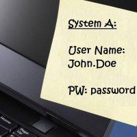 Password on Sticky